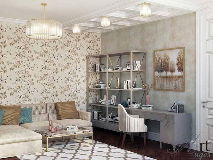 Дизайн интерьера спальни: Спальни в . Автор – Арт-Идея, Минимализм Алюминий / Цинк