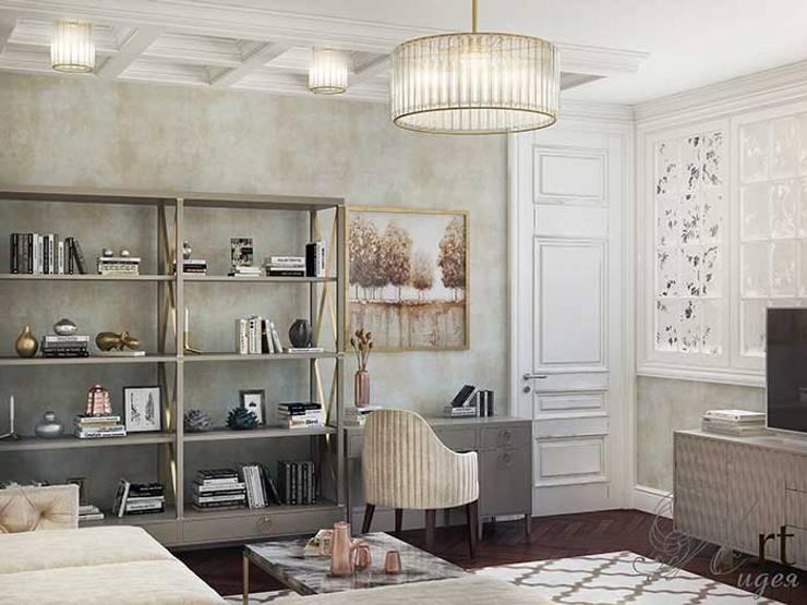 Дизайн интерьера спальни: Спальни в . Автор – Арт-Идея, Минимализм Кирпичи