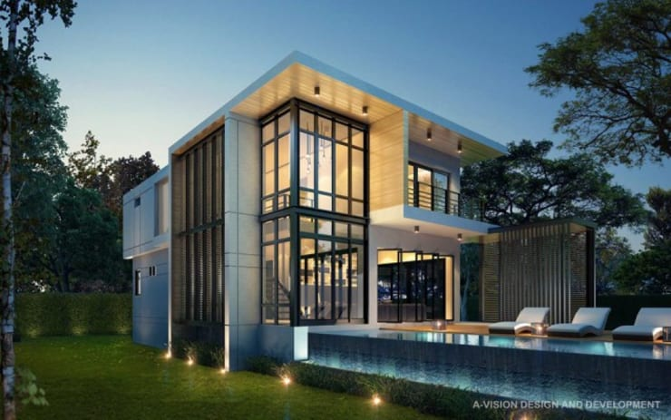BAAN KLANG SUAN AT CHANTHABURI , THAILAND:   by a-vision design and development company limited