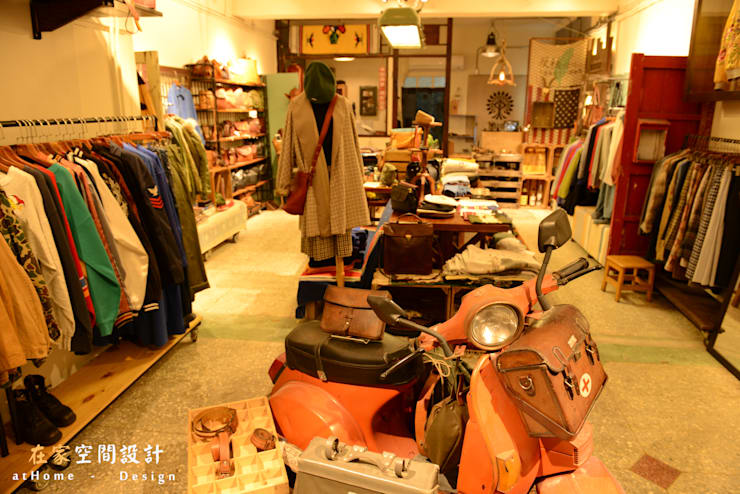 復古工業風- 台北赤峰街古著店:  商業空間 by 在家空間設計