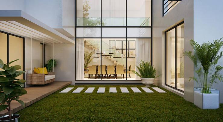 Jardines de estilo  por Flávia Kloss Arquitetura de Interiores