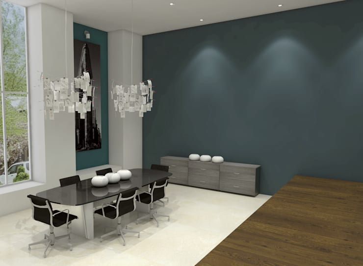 Oficinas y Tiendas de estilo  por Interiorista Teresa Avila