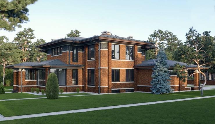 Casas de estilo  por Архитектурное бюро Art&Brick