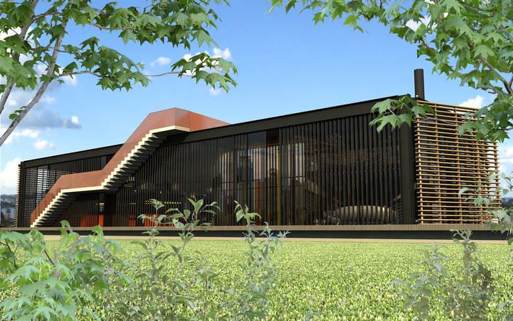 Residencia 04: Casas  por Promenade Arquitetura