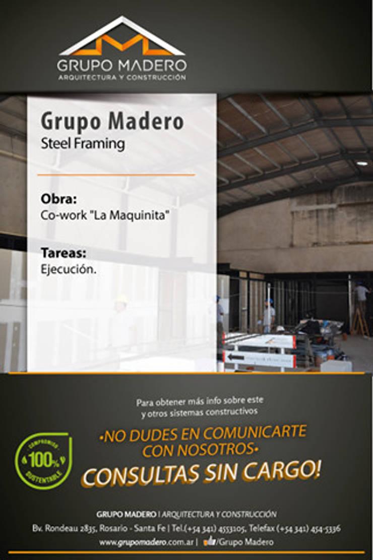 Steel Framing: Estudios y oficinas de estilo  por Grupo Madero,
