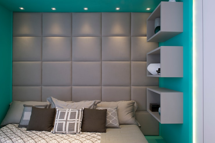 Спальни в . Автор – Karinna Buchalla Interiores