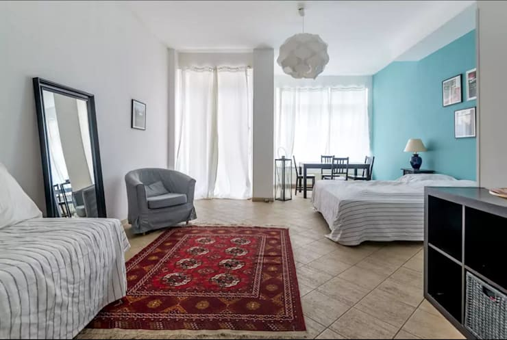 غرفة نوم تنفيذ Smart Travel - Furnished Apartments in Berlin