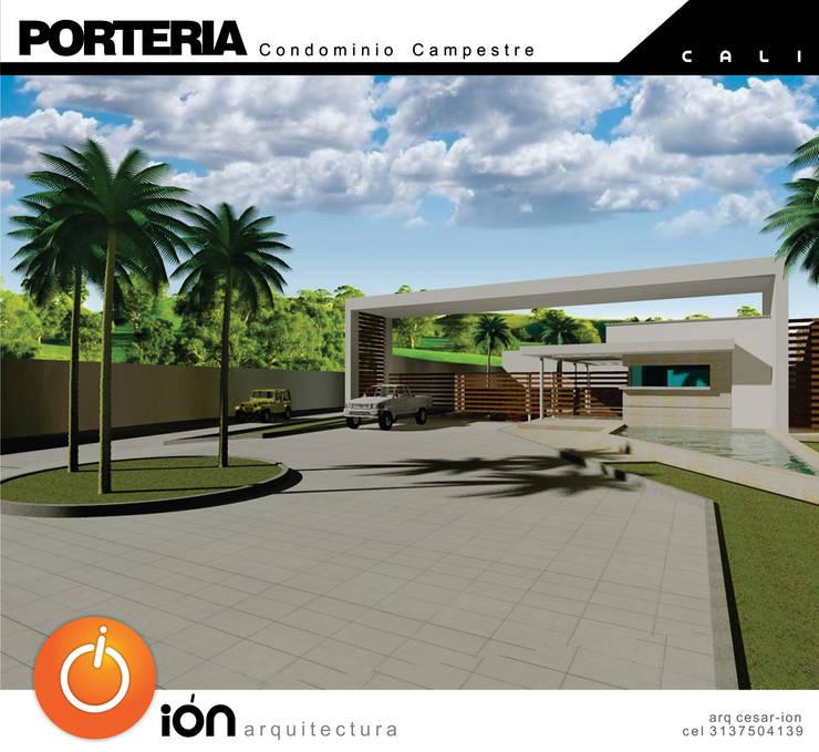 PORTADA CONDOMINIO CAMPESTRE / Reciclaje Arquitectonico: Casas de estilo  por ION arquitectura SAS