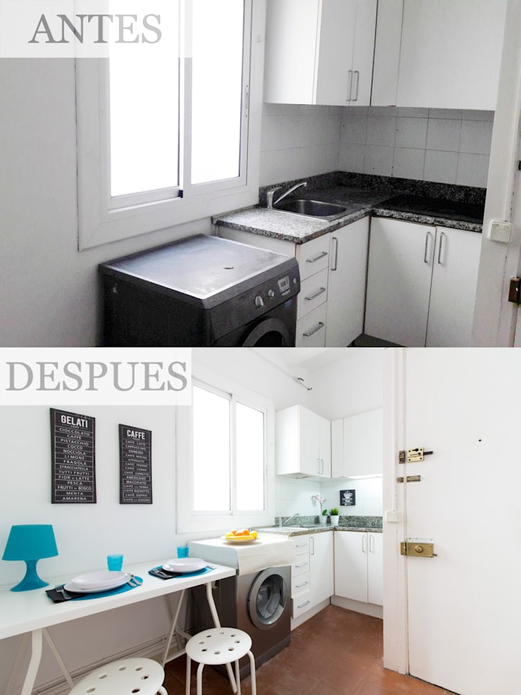 Home Staging en cocina :  de estilo  de Impuls Home Staging en Barcelona