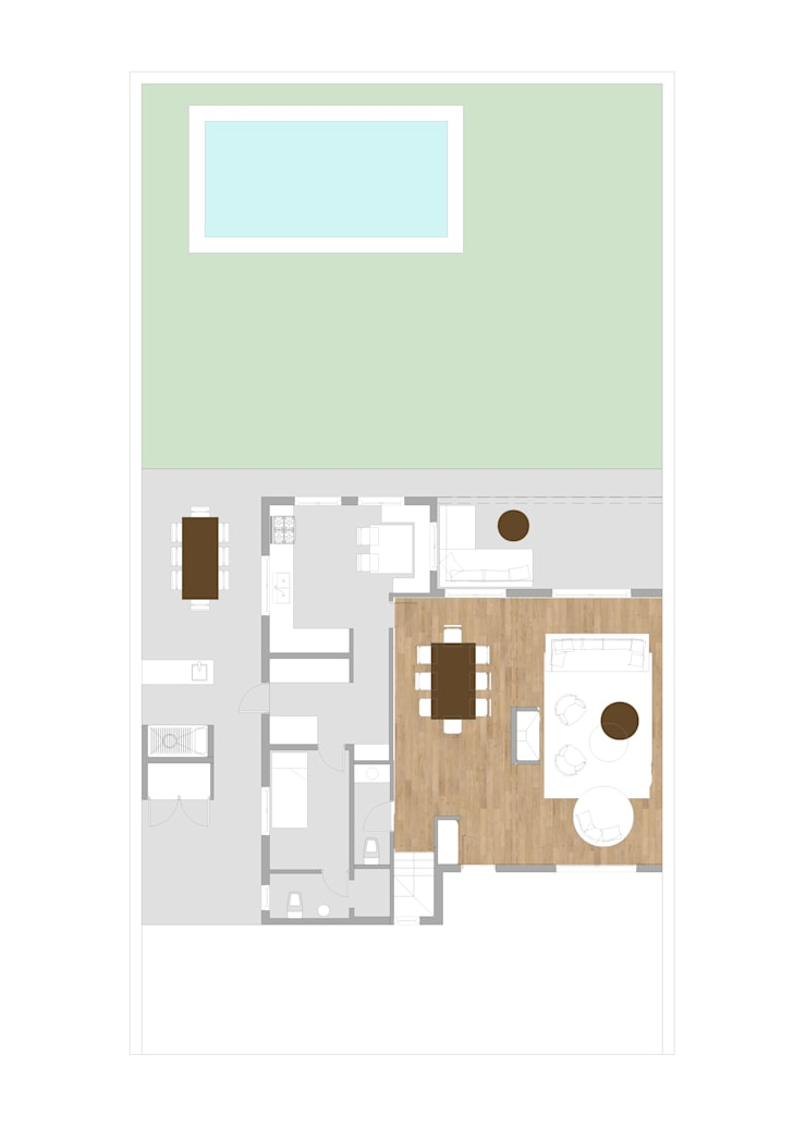 Planta Baja Arquitectura : Livings de estilo  por Estudio CRUDO