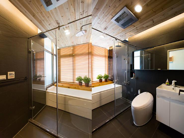 休閒風浴室:  浴室 by 果仁室內裝修設計有限公司