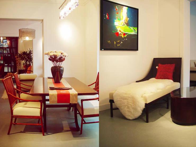 家具藝廊入口:  餐廳 by 果仁室內裝修設計有限公司