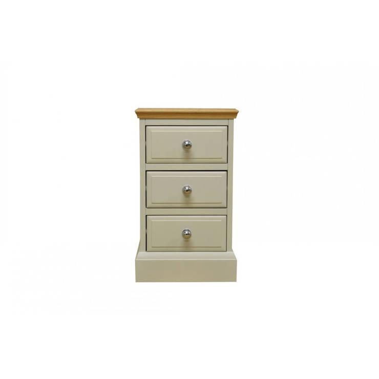 Bonsoni Didley Truffle Bedside Cabinet with Oak Top by Kaldors: modern  by Bonsoni.com, Modern Wood Wood effect