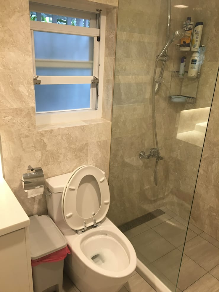 飯店式衛浴設備 小預算大裝修:  浴室 by 捷士空間設計