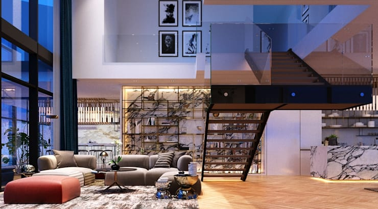Open space in penthouse unit:   by TOFF (Thailand) Company Limited