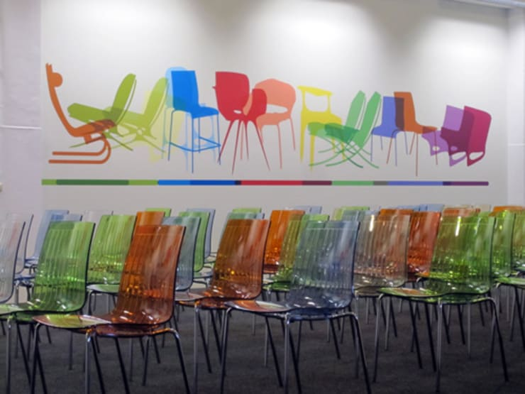 muursticker Saal Stoelenmorph:  Congrescentra door INinterieurs, Modern