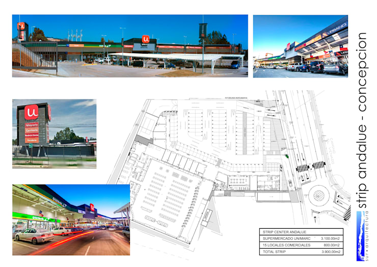 STRIP CENTER ANDALUE : Centros Comerciales de estilo  por surarquitectura