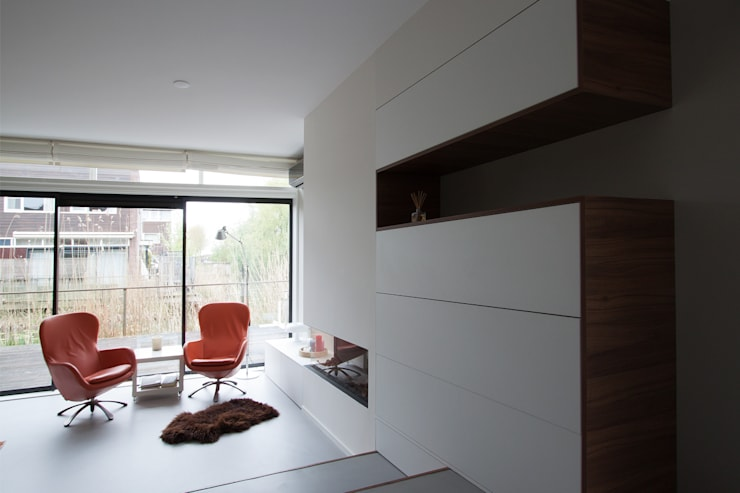 Interieurontwerp woning:  Woonkamer door Joolsdesign