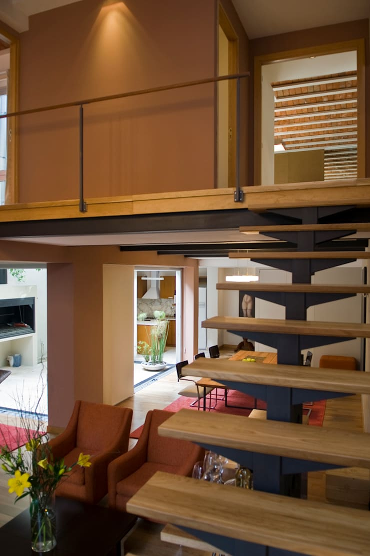 CASA EN PALERMO: Pasillos y recibidores de estilo  por Arquitecta MORIELLO,