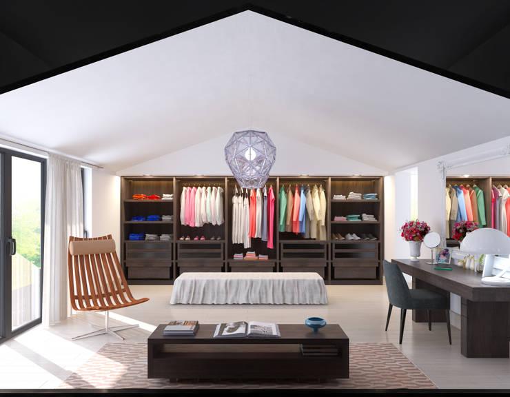 Dormitorios de estilo  por fatih beserek