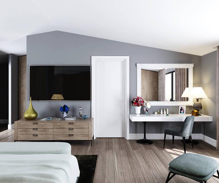 fatih beserek – Yatak odası / Bedroom:  tarz Yatak Odası