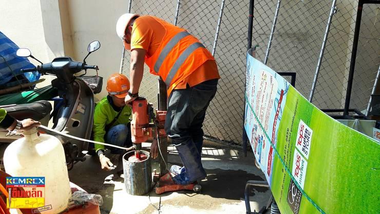 งานฐานรากเสาเสริมรับโครงหลังคา สท.เก๊า:   by บริษัทเข็มเหล็ก จำกัด