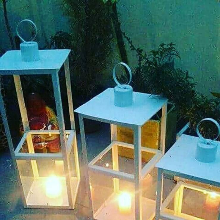 Fanal para vela: Hogar de estilo  por Iluminacion creativa.,