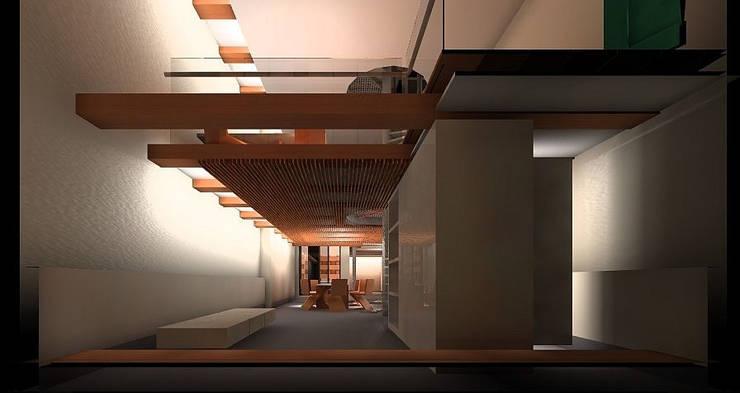Keuken en speelkamer:  Keuken door Hugo Caron Architecten bna, Modern