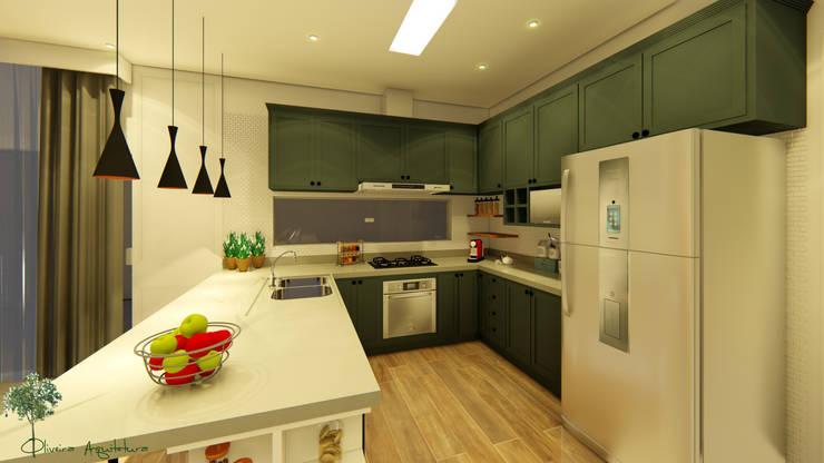 Residência Patrício : Cozinhas  por Oliveira Arquitetura