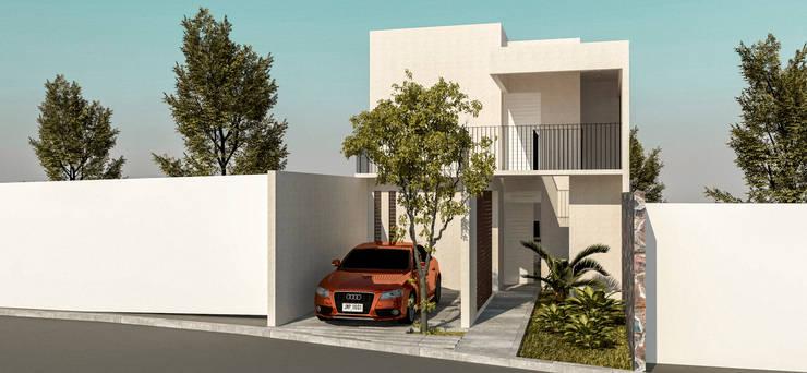 Fachada Principal: Casas de estilo  por KINI ARQUITECTOS
