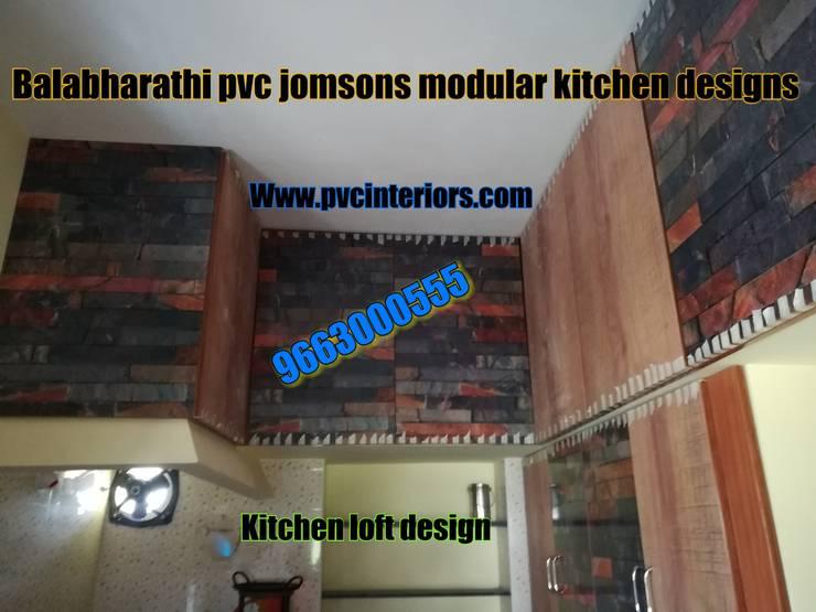 best pvc modular kitchen in bangalore - balabharathi:  Living room by balabharathi pvc interior design