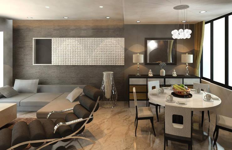 Sheth Residence:  Living room by Ramnani & Associates