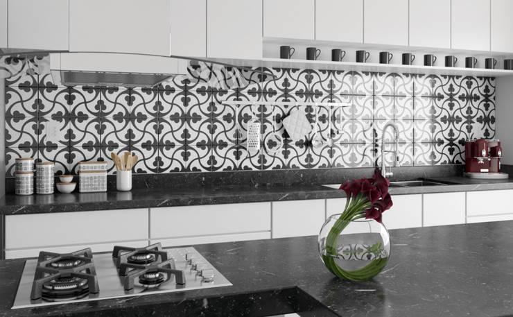 Detalhe do Revestimento: Cozinhas  por ►  8|H A U S  -  A R Q U I T E T U R A  ◄