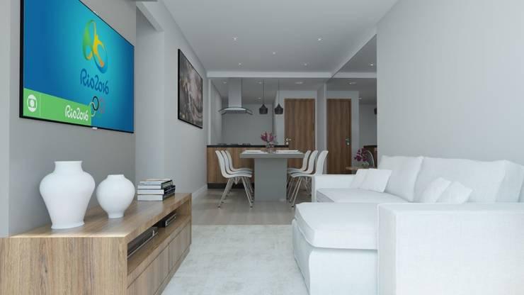 de Secato Arquitetura e Interiores Moderno