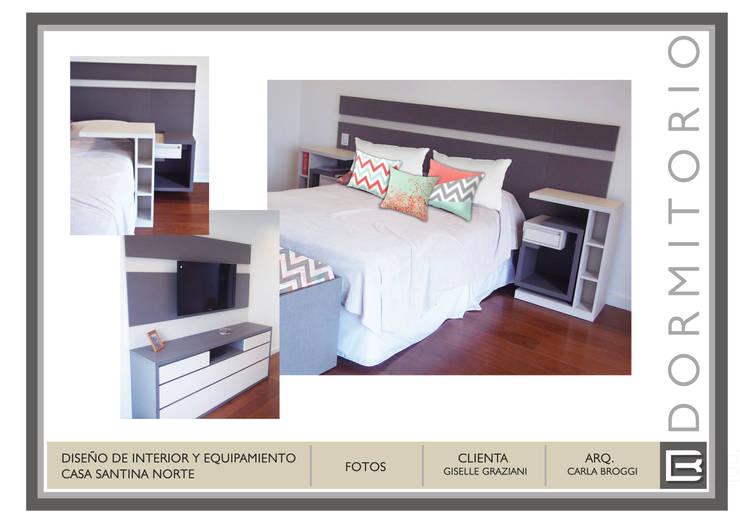 Dormitorio: Dormitorios de estilo  por Arq. Carla Broggi,