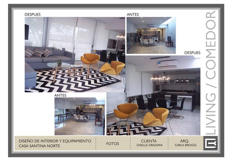 Decoracion Interior Vivienda Barrio cerrado: Livings de estilo  por Arq. Carla Broggi,