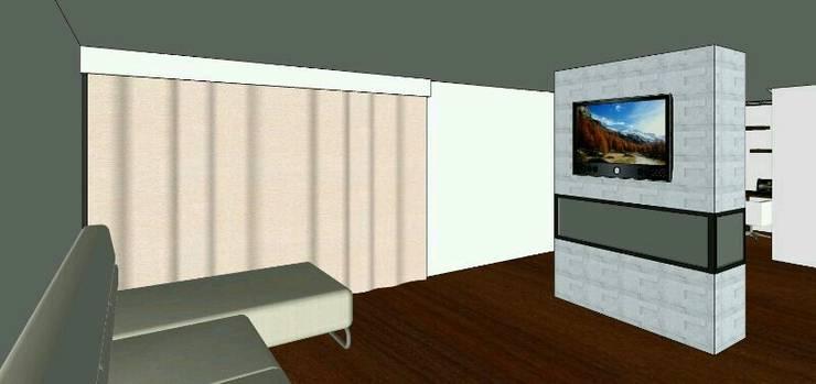 proyecto salitre: Salas multimedia de estilo  por Mobelmuebles