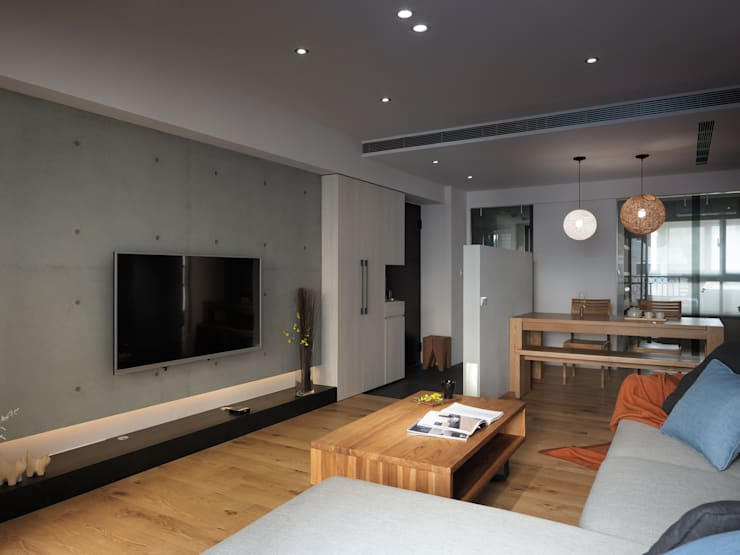 范宅|起居室|:  客廳 by 璞延空間設計