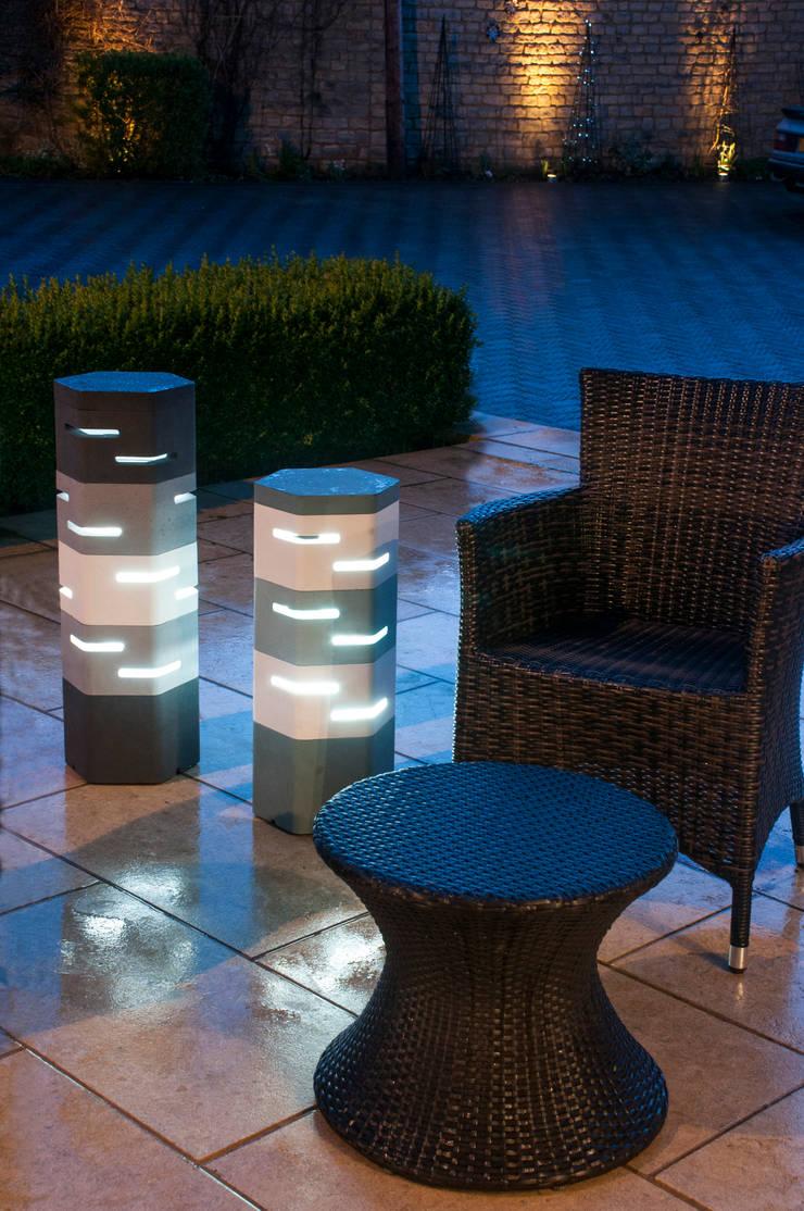 Holix III in Serene Blue Dark and Vanilla Ice alongside Holix IV:  Balconies, verandas & terraces  by Jalu Ltd
