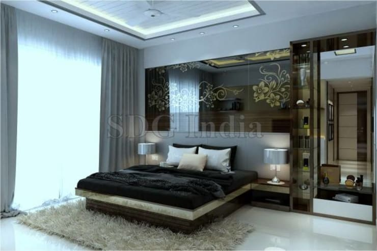 Interiors: modern Bedroom by Space Design Group