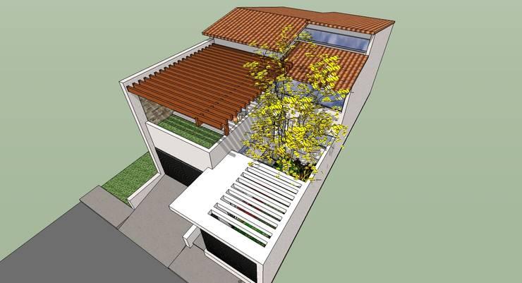 Vista Superior: Casas de estilo moderno por MARATEA Estudio