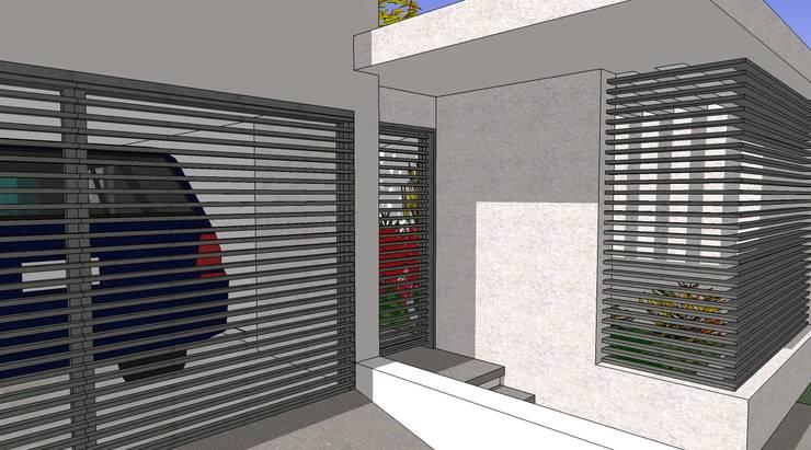 Acceso: Casas de estilo  por MARATEA Estudio