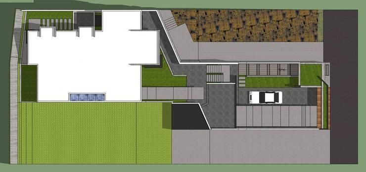Planta de techos: Casas de estilo minimalista por MARATEA Estudio
