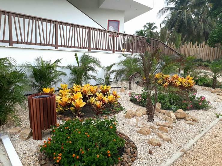 Jardines Hotel Melia / Cartagena: Jardines de estilo tropical por ecoexteriores