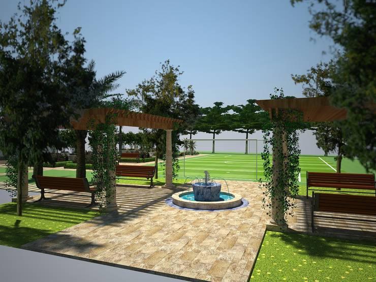 Diseño de jardin italiano / Casa en Barranquilla: Jardines de estilo  por ecoexteriores