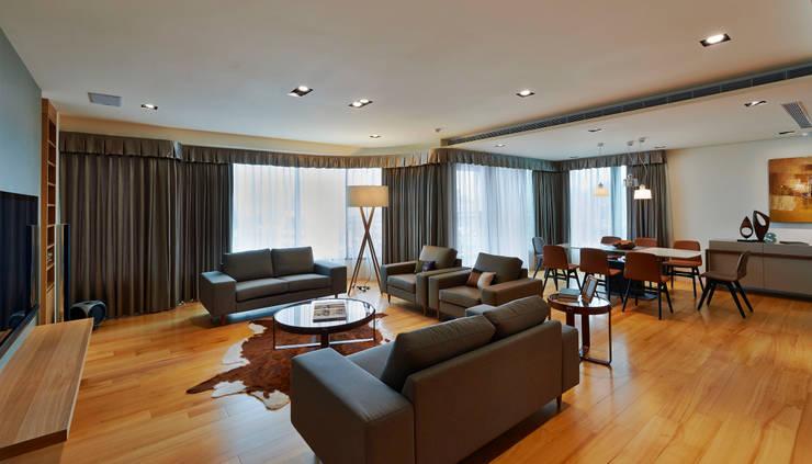Living room by 舍子美學設計有限公司, Modern