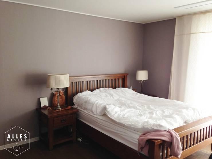 호반베르디움 아파트 인테리어: 디자인알레스의  침실,