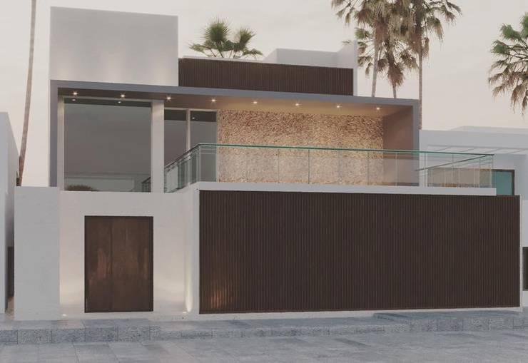 FACHADA CASA CHUBURNA: Casas de estilo  por Ar.Co