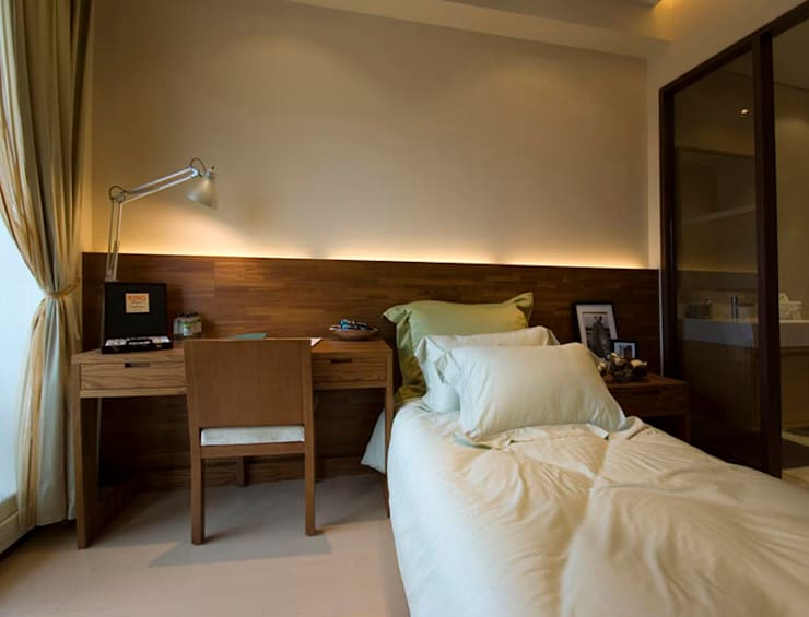 Bedroom by 果仁室內裝修設計有限公司, Asian