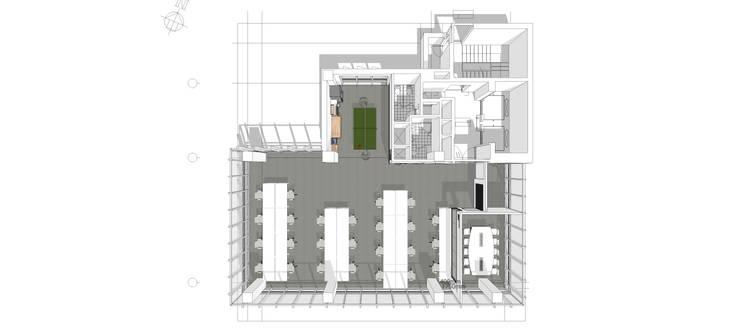 플라이셔 flysher: (주)도시마을건축사사무소의  회의실